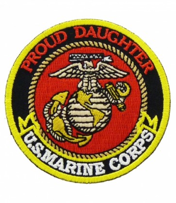 U.S. Marine Corps Proud Daughter Patch, Military Patches