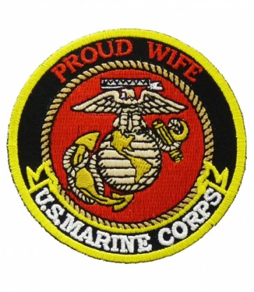 U.S. Marine Corps Proud Wife Patch, Military Patches