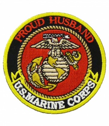 U.S. Marine Corps Proud Husband Patch, Military Patches