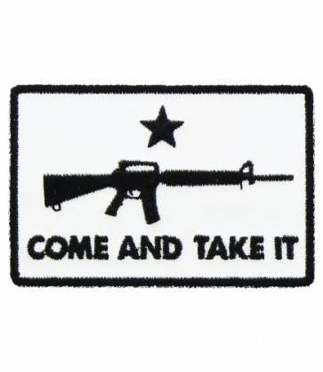 Come And Take It M-16 Patch, Patriotic Gun Patches