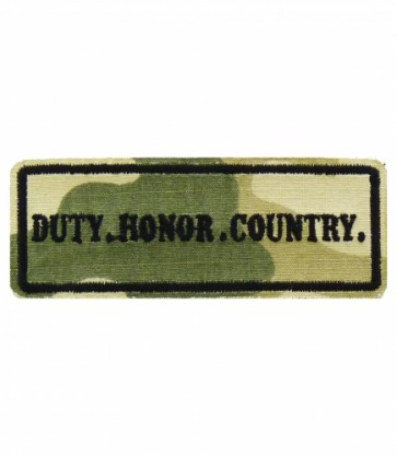 Duty Honor Country Camouflage Patch, Military Patches