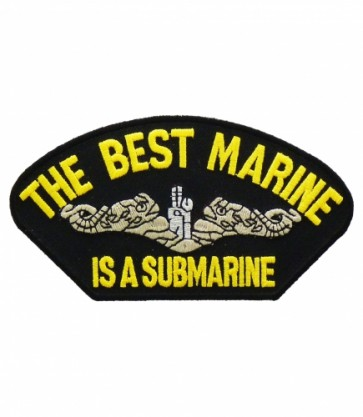 Best Marine Is A Submarine Hat Patch, Military Cap Patches