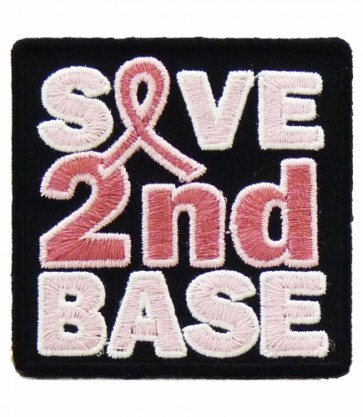 Save 2nd Base Patch, Breast Cancer Ribbon Patches
