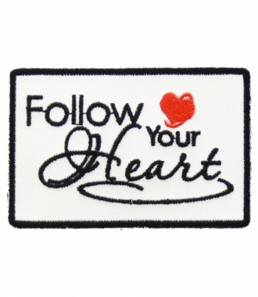 Follow Your Heart Patch, Ladies Motivational Patches