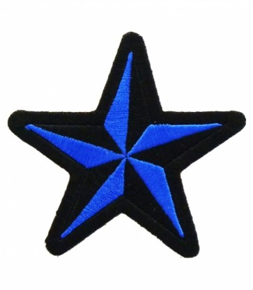 Nautical Star Blue & Black Patch, Star Patches