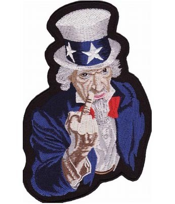 Uncle Sam Middle Finger Patch, Patriotic Political Patches