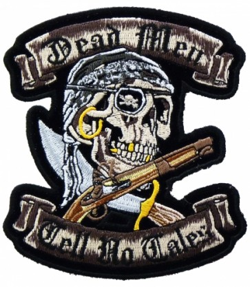 Pirate Skull Dead Men Tell No Tales Patch, Biker Patches