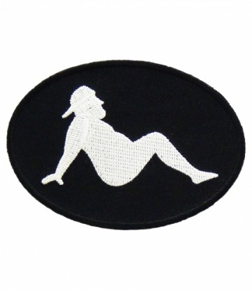 Beer Belly Lounging Man Patch, Funny Biker Patches