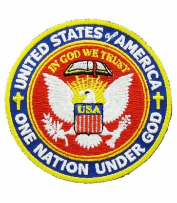 U.S. Seal One Nation Under God Patch, Patriotic Patches