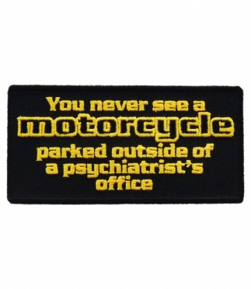 Motorcycle Psychiatrists Office Patch, Biker Patches