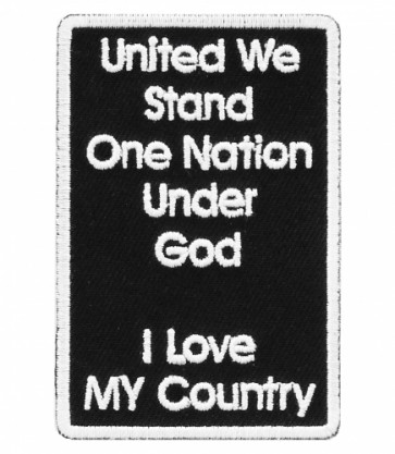 United We Stand One Nation Patch, Patriotic Patches