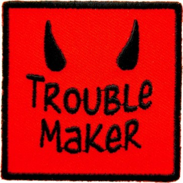 Trouble Maker Devil Horns Patch, Funny Patches