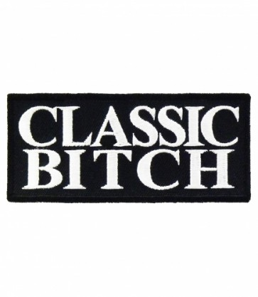 Classic Bitch Patch, Funny Womens Biker Patches