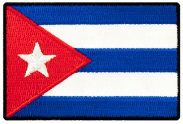 Cuba Flag Patch, Cuban Heritage Patches