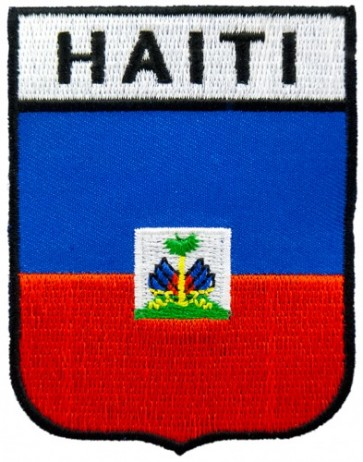 Haiti Flag Shield Patch, Carribean Island Patches