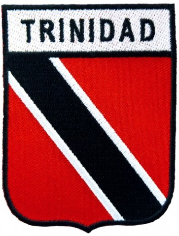 Trinidad Flag Shield Patch, Trinidad Island Patches