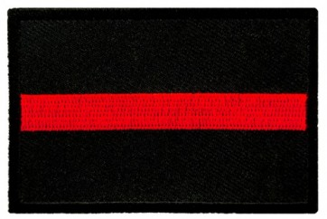 Thin Red Line Firefighter Patch, Firefighter Patches