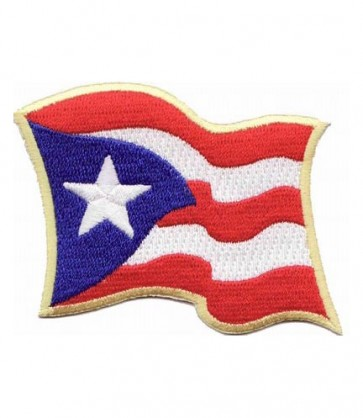 Puerto Rico Waving Flag Patch, Puerto Rico Patches