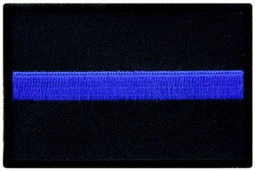 Thin Blue Line Police Patch, Law Enforcement Patches