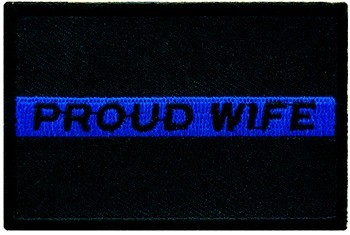 Proud Wife Thin Blue Line Patch, Law Enforcement Patches