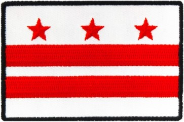 Washington DC Flag Patch, District of Columbia Patches