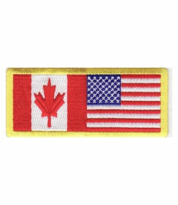 American Flag Canadian Flag Patch, Canada Patches