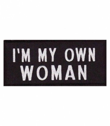 I'm My Own Woman Patch, Women's Biker Patches