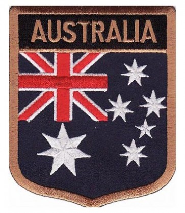 Australia Flag Shield Patch, Country Flag Patches