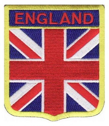 England Union Jack Flag Shield Patch, Country Flag Patches