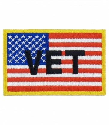Vet American Flag Patch, Patriotic Military Patches