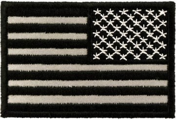 REFLECTIVE Black & Grey American Flag Reversed Patches