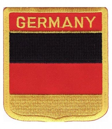 Germany Flag Shield Patch, Country Flag Patches