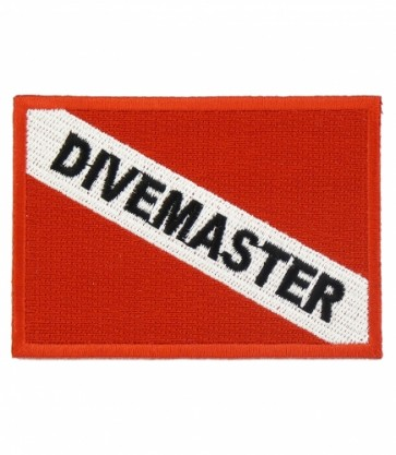 Divemaster Diver Flag Patch, Scuba Diving Patches