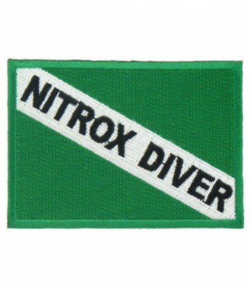 Nitrox Diver Flag Patch, Scuba Diving Patches