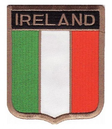 Ireland Flag Shield Patch, Country Flag Patches
