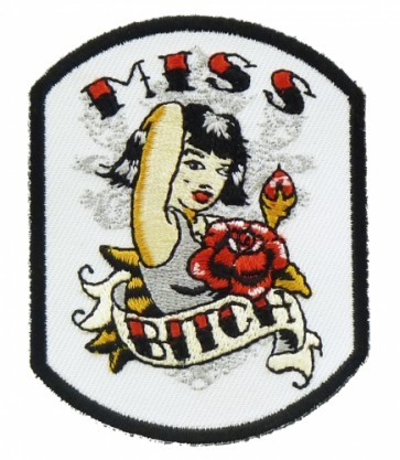 Miss Bitch Pin Up Girl Patch, Ladies Patches