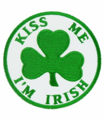 Kiss Me Irish Shamrock Patch, Irish Shamrock Patches