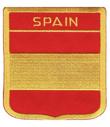 Spain Flag Shield Patch, Country Flag Patches