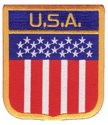U.S.A. Flag Hanging Shield Patch, American Flag Patches