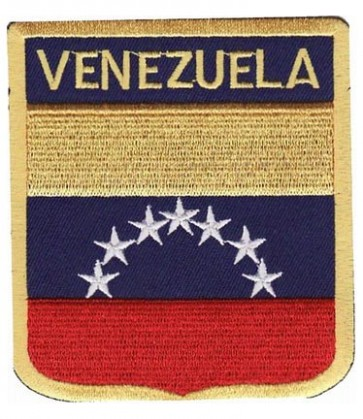 Venezuela Flag Shield Patch, Country Flag Patches