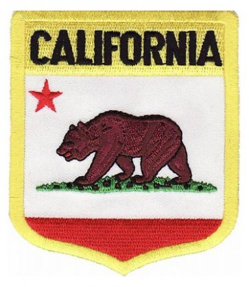 California State Flag Shield Patch, 50 State Flag Patches