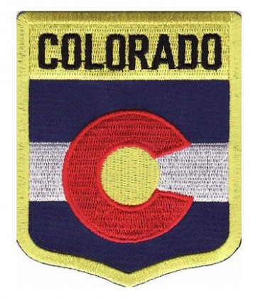 Colorado State Flag Shield Patch, 50 State Flag Patches