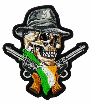 Irish Flag Skull & Guns Patch, Skull Patches