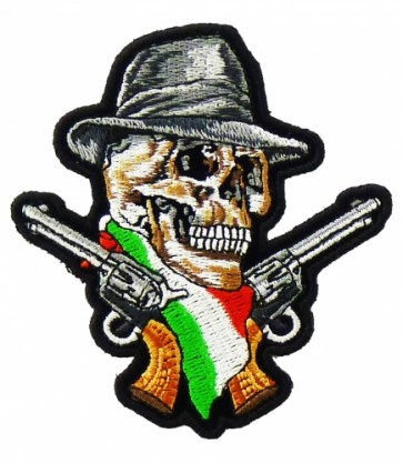 Italian Flag Skull & Guns Patch, Italian Skull Patches