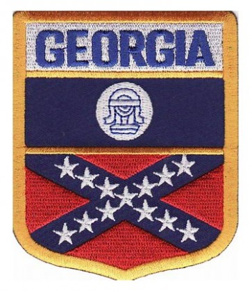 Georgia Old Flag Shield Patch, 50 State Flag Patches