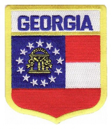 Georgia State Flag Shield Patch, 50 State Flag Patches