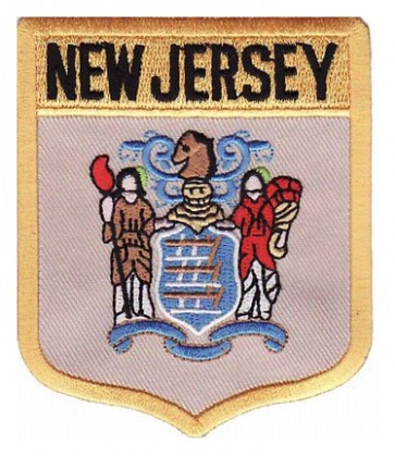 New Jersey State Flag Shield Patch, 50 State Flag Patches