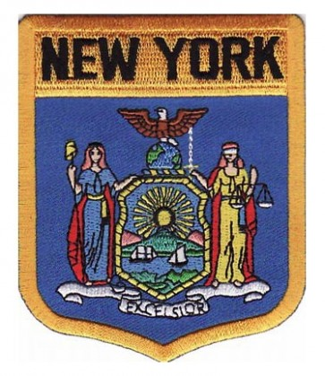 New York State Flag Shield Patch, 50 State Flag Patches
