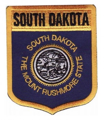 South Dakota State Flag Shield Patch, 50 State Flag Patches