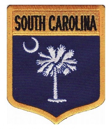 South Carolina State Flag Shield Patch, 50 State Flag Patches